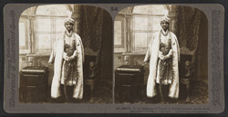 H.H. the Maharaja of Tagore in Durbar costume, jewels worth $200,000 - Calcutta